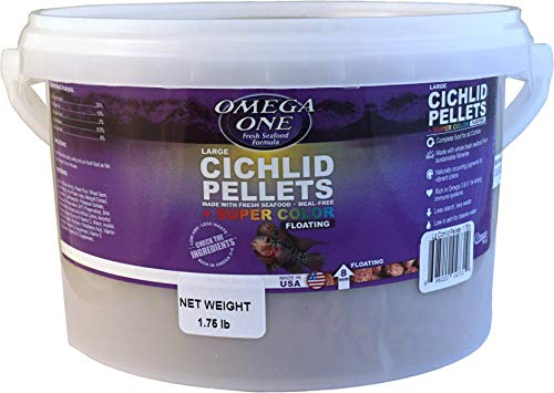 Omega One Large Floating Cichlid Pellets 1.75-Lb.