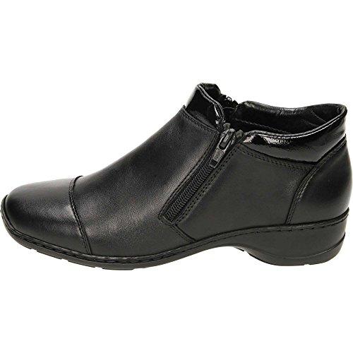 38 Femme pour EU Noir Bottes Noir Rieker w07qPH7