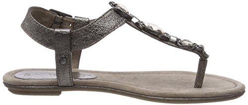Marco Tozzi Women's 28143 Ankle Strap Sandals Gray (Pewter) ZoB0r