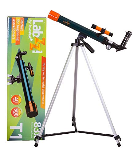 Levenhuk LabZZ T1 Refractor Telescope for Young Astronomers – Adjustable Height