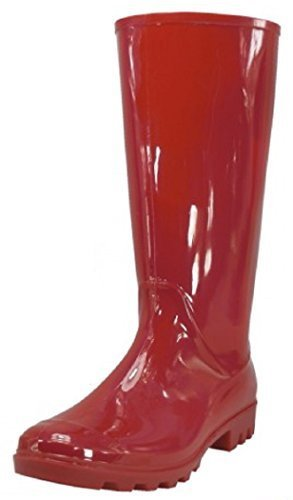 Shoes 18 Womens Classic Rain Boot with Buckle (6 B(M) US, Red Rain)