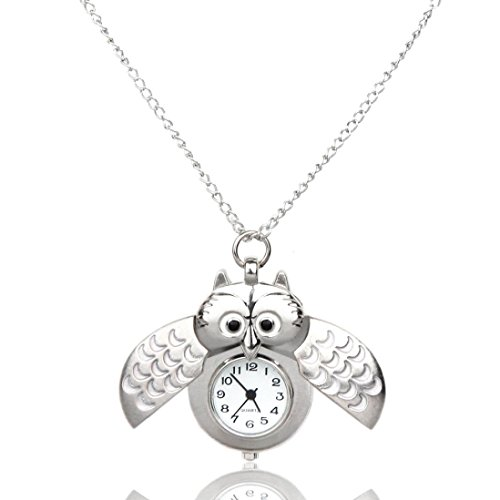 GBSELL Fashion Mini Metal Owl Double Open Quartz Watch Pendant Hanging - Lf Fashion