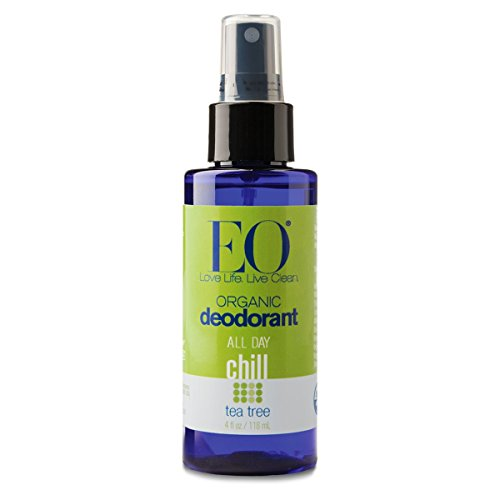 EO Organic Deodorant Spray, All Day Chill, Tea Tree, 4 Ounce (Pack of 24) by EO