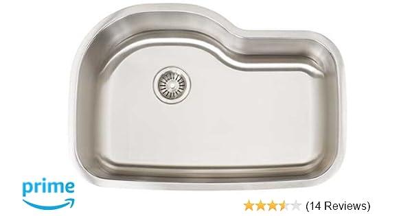 Artisan AR 3120D10-S Premium Collection 16-Gauge Undermount Single Basin  Stainless Steel Kitchen Sink