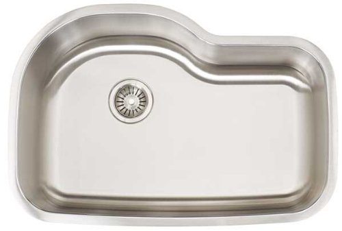 Artisan AR 3120D10-S Premium Collection 16-Gauge Undermount Single Basin Stainless Steel Kitchen - Undermount Artisan Sink