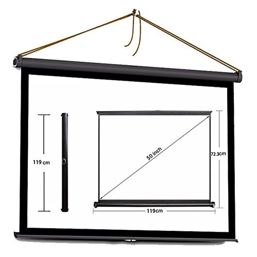 Projector HD Screen Portable Folding Table Screen for Home Theatre / Office / Cinema (50 inch 16:9) by Emperor of Gadgets by Emperor of Gadgets