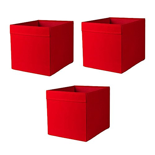 IKEA Drona Box, Red(Pack of 3)