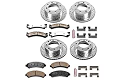 The Power Stop Z36 Truck & Tow Performance brake kit provides the superior stopping power demanded by those who tow boats, haul loads, tackle mountains, lift trucks, and play in the harshest conditions. The brake rotors are drilled to kee...