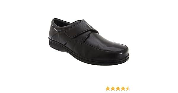 Roamers - Zapatos de piel para pies anchos Modelo Wide Fitting diseño con con cierre de velcro Hombre Caballero - Vestir / Trabajo: Amazon.es: Zapatos y ...