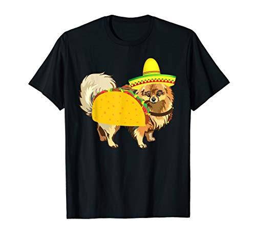 Pomeranian Taco Costume Mexican Cinco De Mayo Tshirt -