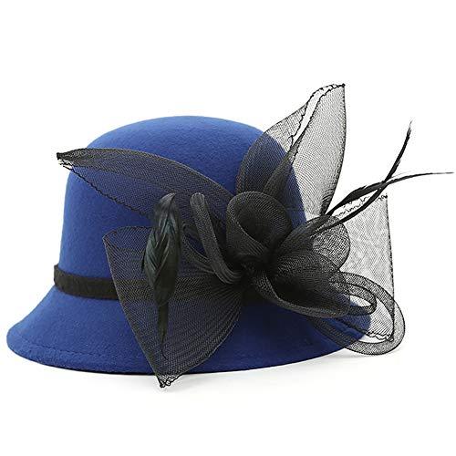 ChenXi Store Women's Kentucky Derby Racing Horse Organza Hat Church Wedding Dress Party Occasion Cap]()
