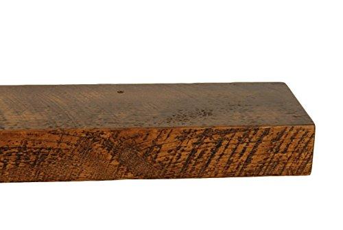 30'' W X 7'' D X 3'' H, Rustic Floating Wood Mantel, Shelf, Antique, Wooden, Shelves, Industrial by Joel's Antiques & Reclaimed Decor (Image #3)