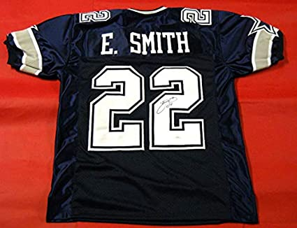 best loved 9e4b8 84191 EMMITT SMITH AUTOGRAPHED DALLAS COWBOYS DOUBLE STAR JERSEY ...