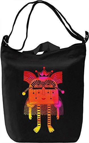 Splashy Princess Borsa Giornaliera Canvas Canvas Day Bag| 100% Premium Cotton Canvas| DTG Printing|