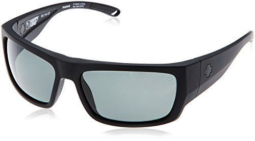 Spy Optic Rover Polarized Square Sunglasses, Soft Matte Black/Happy Gray/Green Polar, 1.5 - Sunglasses Spy Green