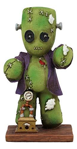 Ebros Day of The Dead Steampunk Clockwork Pinhead Monster Frankenstein with Voodoo Stitches Figurine Collectible Sculpture 4.25