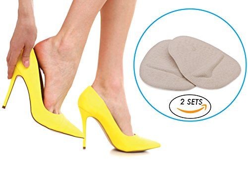 Healing Rights™ Ball of foot pads for high heels, Metatarsal Pads for Women - (6 Pieces)- One size fits (Heel Fat Pad)