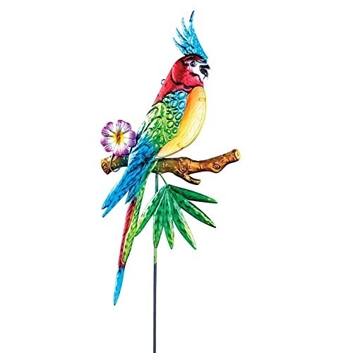 Tropical Parrot Colorful Glass Garden
