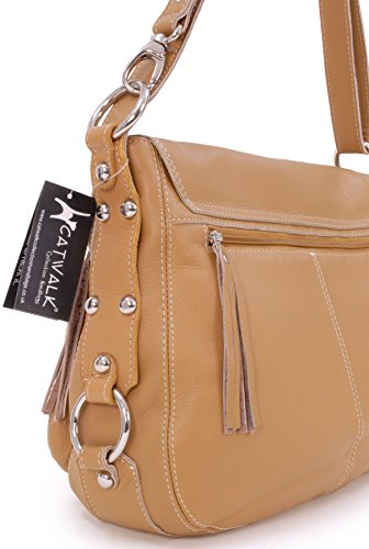 Catwalk Cross Collection Catwalk Bag Big Tan Body Collection Leather Courier rwqHRr7