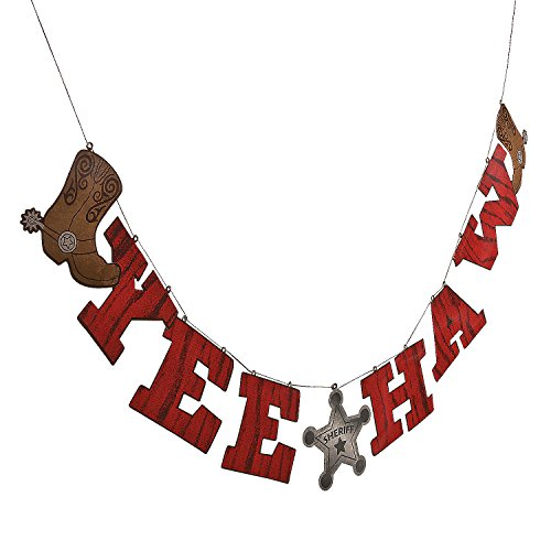 (Fun Express - Cowboy Words Hanging Garland for Birthday - Party Decor - Hanging Decor - Garland - Birthday - 1 Piece )