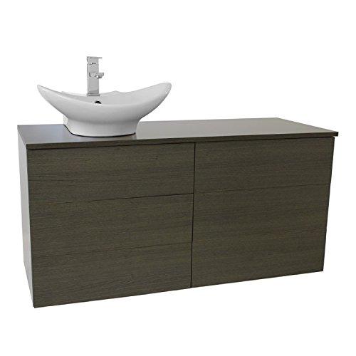 "Iotti Iotti TN255 Time Vessel Sink Bathroom Vanity with Wall Mounted, 47"", Grey Oak cheap"
