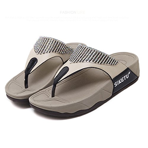 Thong Flops Anti Womens Slope Shoes Wedge Black Flip Btrada Slip Sandal xPwaRPq