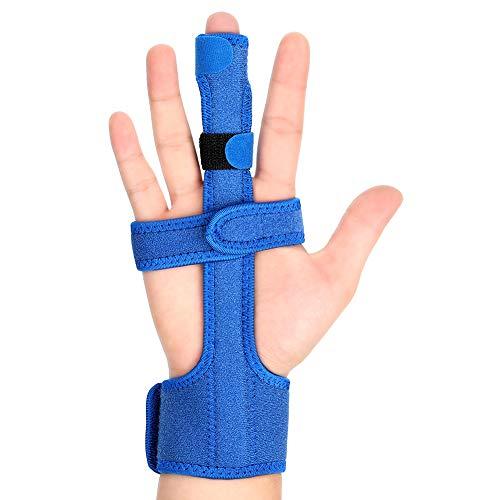 Férula para el Dedo Disparador Ajustable, Férula de Dedo de la Mano, Soporte De Aluminio Incorporado, Ferula para Dedo en Gatillo, Fracturas de Dedos, Dolor de La Artritis, Lesiones Deportivas