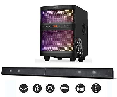 LuguLake Bluetooth Sound bar Speaker System with Subwoofer
