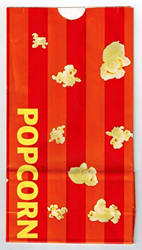 Movie Theater Laminated Popcorn Bag - Orange Stripes - Small 46oz - 50ct by Gold Medal