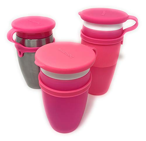 Koaii Baby Replacement Silicone Lids for All Munchkin Miracle 360 Cups. More Color Combination Available. Set of Three in Pink, Pink & Pink.