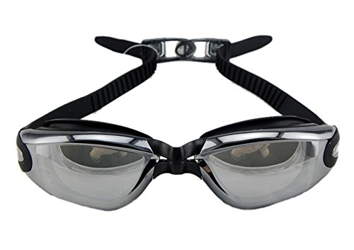 Ericoco Adult Polycabonate Lens Hd Anti-fog Uv Protection Swim Goggle (Black)