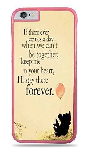 Trendy Accessories Bear With Balloon Inspirational Quote Design Pattern Print Cover Pink Hardshell Case for iPhone 6 Plus (5.5)