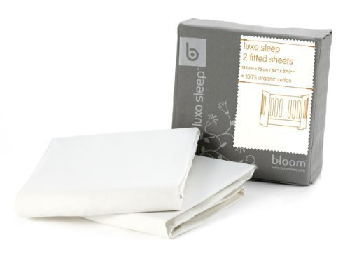 Alma Mini 2-pc Fitted Sheet Set - 100% Organic Cotton (coconut white) by BLOOM