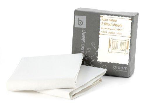 Alma Mini 2-pc Fitted Sheet Set - 100% Organic Cotton (coconut white)