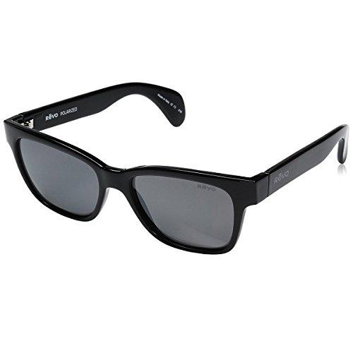 Revo Re 5012 Trystan Polarized Wayfarer Sunglasses, Shiny Black Graphite, 54 - Mens And M H Sunglasses
