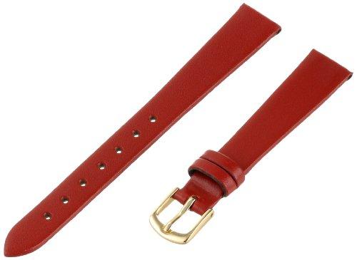 Hadley-Roma Women's LSL702RQ-130 13-mm Red Genuine Leather Watch Strap