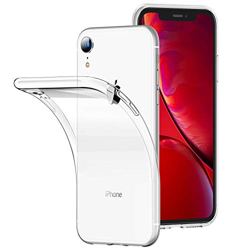 RANVOO iPhone XR Case, Clear Crystal Thin Slim Soft TPU Protective Cover with Transparent Bumper Gel Case Designed for Apple iPhone XR 6.1