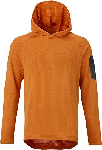 Burton AK Grid Hoodie Fleece Mens Sz - Burton Fleece Hooded Jacket