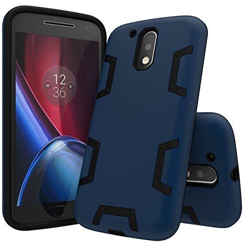 MOTO G4 Case,MOTO G4 Plus Case,ANLI(TM)[Shock Absorption] Drop Protection Hybrid Dual Layer Armor Defender Protective Case Cover for Motorola Moto G 4th Generation / Moto G Plus (2016) Deep Blue