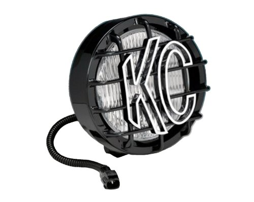 KC HiLiTES 1131 97-04 JEEP Wrangler TJ Replacement Single Fog Light; 55w Black SlimLite Black with Stone Guard