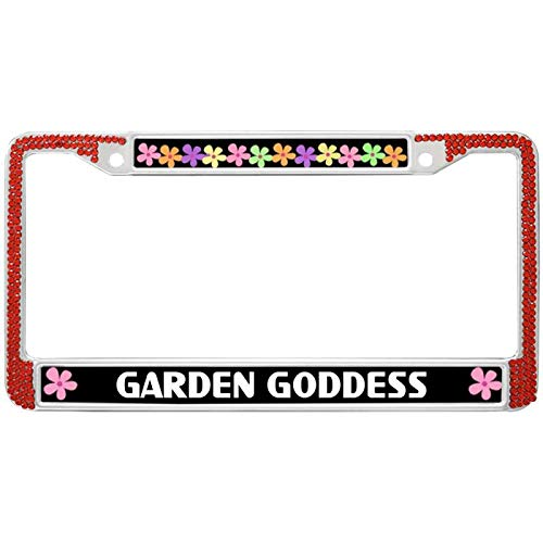 (Auto License Plate Frame,Stainless Steel Car License Plate Frame Garden Goddess License Plate Frame Handcrafted Car Plate Frame Designed for US Standard Car License)