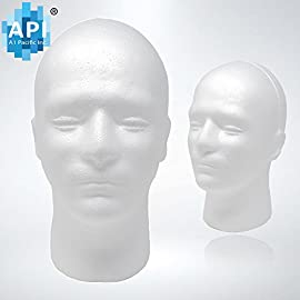 Male Styrofoam Foam Mannequin wig Head 11″ (1 count)