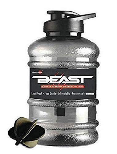 Tara Beast Sports Unbreakable Freezer Safe Gallon Bottle 1.5 L with Mixer Ball and Strainer (Black) Price & Reviews
