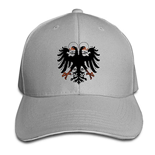 ONE-HEARTHR Adult Holy Roman Empire Cotton Lightweight Adjustable Peaked Baseball Cap Sandwich Hat Men Women