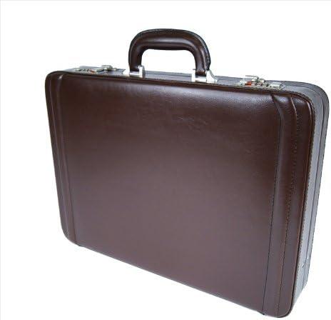 Genuine Leather Professional Business ESPANDIBILE EXECUTIVE ATTACHE VALIGETTA