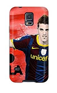 Hot Fc Barcelona David Villa First Grade pc Phone Case For Galaxy S5 Case Cover