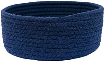 YGH ストレージバスケット、ベッドサイドスナック破片バスケットおもちゃのストレージバスケットキーコーヒーテーブルデスクトップストレージバスケット (Color : Blue -1)