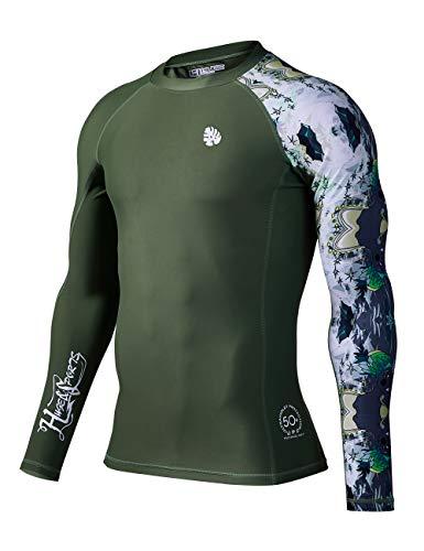 - HUGE SPORTS Men's Splice UV Sun Protection UPF 50+ Skins Rash Guard Long Sleeves ...
