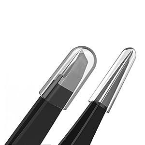 Tweezers Set – TweezerGuru Stainless Steel Slant Tip and Pointed Eyebrow Tweezer Set – Great Precision for Facial Hair, Ingrown Hair, Splinter, Blackhead and Tick Remover