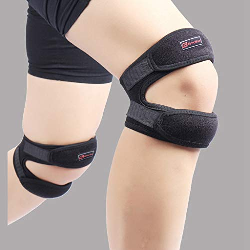 Iulove Double Strap Knee Support Patella Tendon Brace Stabilizer Relieve Pain Sports 8 Ball Padded Bar Stool
